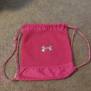 Under armour hot pink tie bag